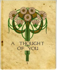 "A copy of ""A Thought of You"" gifted to Bessie by her husband."
