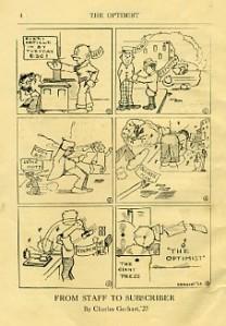 Cartoon by Charles Gerhart, '23