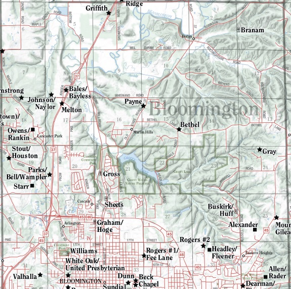 Cemetery Map Bloomington Twnshp