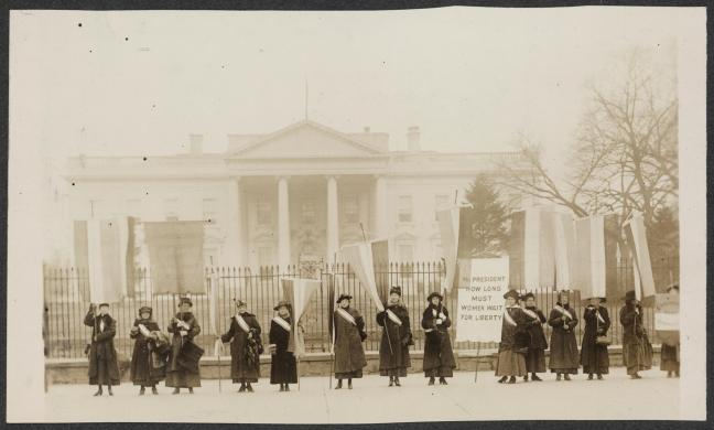 LOC Penn on the picket line, suffrage
